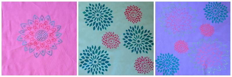 Sew Creative Blog's Royal Design Studio's Stencilled Fabric Panels