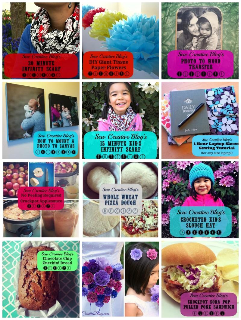 Sew Creative's Top 12 Posts