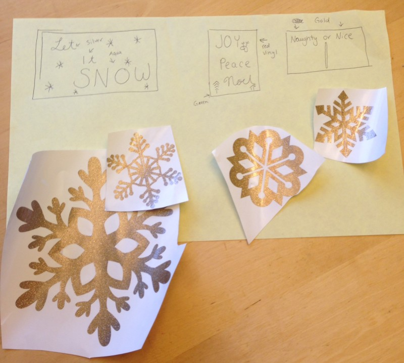 My ideas for my holiday signs. Stay tuned for the other 2 to come to life!