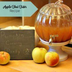 Apple Chai Cider Recipe