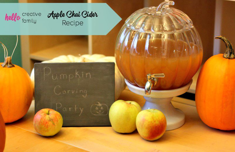 Warm and spicy this Apple Chai Cider Recipe is reminiscent of the Starbucks version and is perfect for an after the pumpkin patch refreshment!
