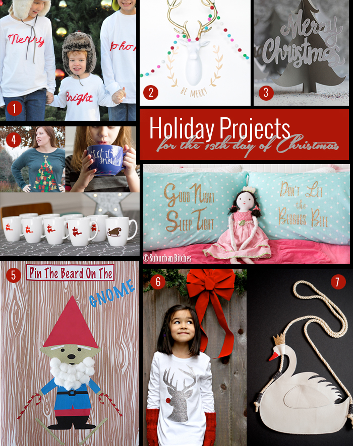 7 Great DIY Christsmas Gifts Made on the Cricut Explore from Team #13 of the Cricut Design Space Star Challenge