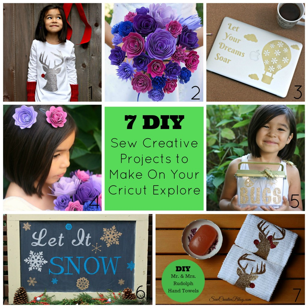 7 Sew Creative Projects to Make On Your Cricut Explore or Silhouette Cutting Machine