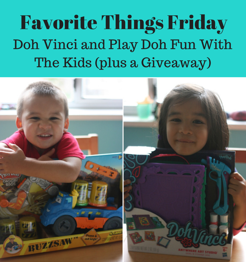 Favorite Things Friday Doh Vinci and Play Doh Fun With The Kids (plus a Giveaway)