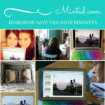 Making Save The Date Magnets with Sew Creative and Minted
