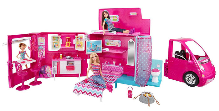 Barbie Sisters Life in The Dreamhouse Camper