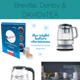 Sew Creative counts down teh days to Christmas with gift ideas for creatives. In this post she shares gifts for tea lovers from Breville, Denby and DAVIDsTEA