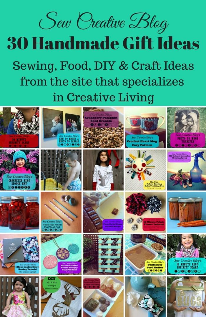 Sew Creative Blog 30 Handmade Gift Ideas Sewing Food DIY Craft