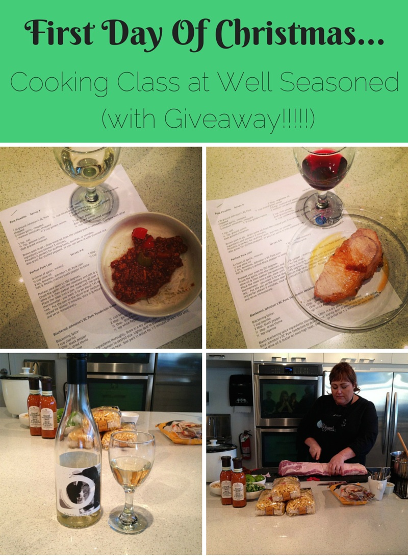 Sew Creative's Countdown To Christmas Day 1 Cooking Class at Well Seasoned With Giveaway