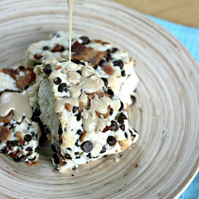 Bacon Chocolate Chip Scones with Maple and Sea Salt Drizzle Recipe