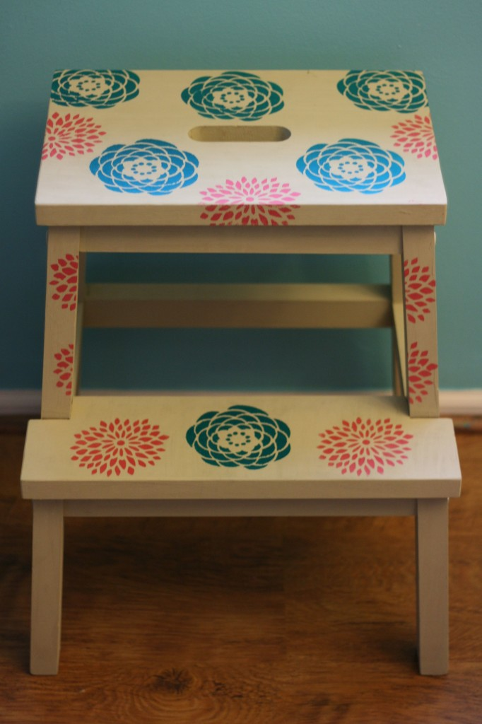From Drab to Fab- Ikea Bekvam Stool Makeover from Sew Creative