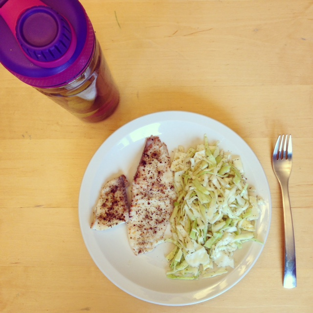 Grilled Fish with Cabbage Salad