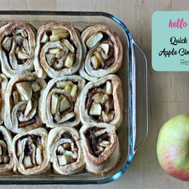 Looking for a quick and easy apple cinnamon roll recipe? This is the recipe for you- No yeast required in this dough means in minutes it's in the oven.