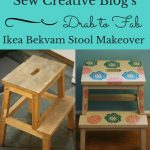 Sew Creative Blog's From Drab to Fab- Ikea Bekvam Stool Makeover