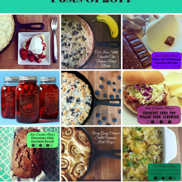 Top 12 Favorite Recipes Of 2014 from Sew Creative