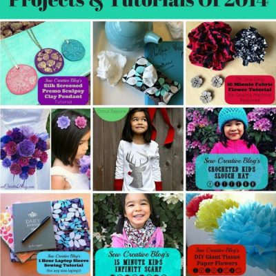 Top 12 Favorite Craft Projects and Tutorials Of 2014 from Sew Creative