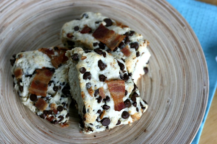 Who's hungry? Sew Creative's delicous recipe for decadent bacon chocolate chip scones with maple and sea salt drizzle