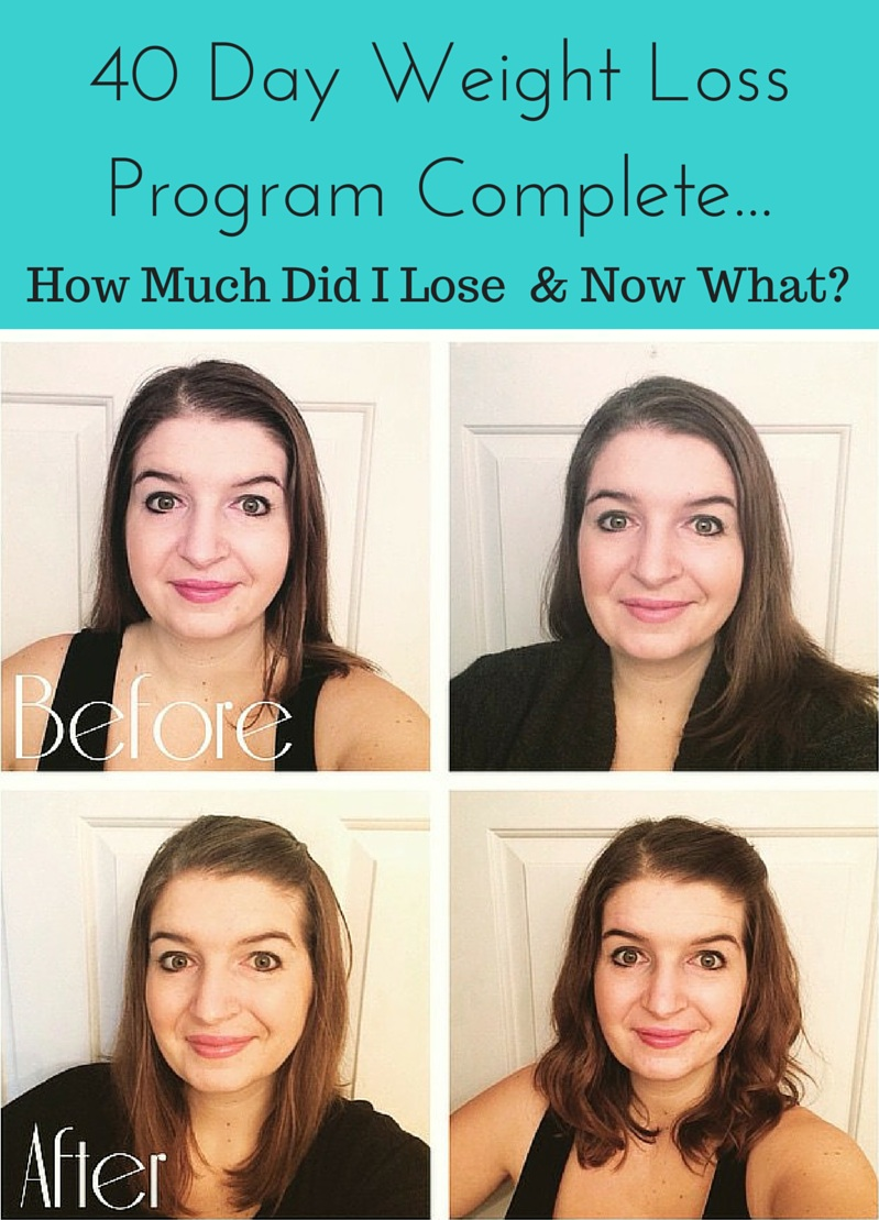 40 Day Weight Loss Program Complete... How Much Did I Lose and Now What?
