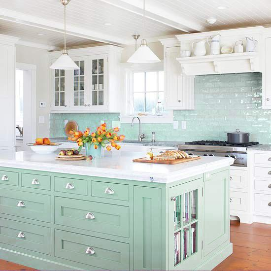 White Kitchen Aqua Accents imagining my dream kitchen #testdrivemoms - hello creative family