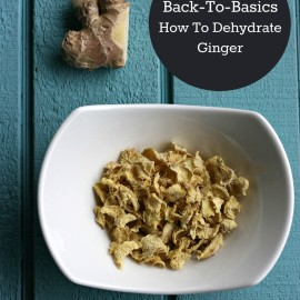 Back to Basics Sew Creative Shares How to Dehydrate Ginger for use in tea, soups, broth, baking and other cooking needs