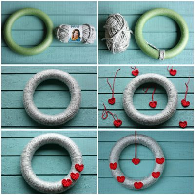 Fun, quick and easy! How to Make A Valentine's Day Wreath That You Can Repurpose For Any Season or Holiday