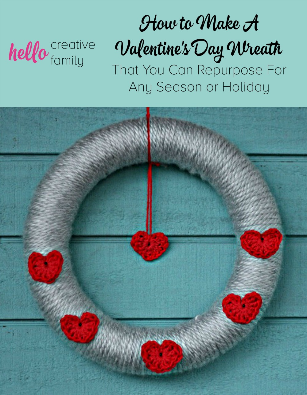How to Make A Valentine's Day Wreath That You Can Repurpose For Any Season or Holiday