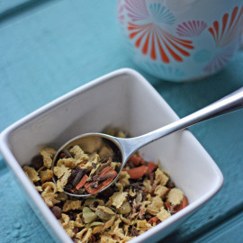 Ginger Cinnamon & Everything Nice Spice Tea Recipe makes the perfect chai tea base, or the perfect mug of herbal spicy tea! Perfect for sore throats.
