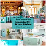 Sew Creative Blog's Imaging My Dream Kitchen Beautiful Aqua Blue Kitchens and Appliances to Fill Them With #TestDriveMoms