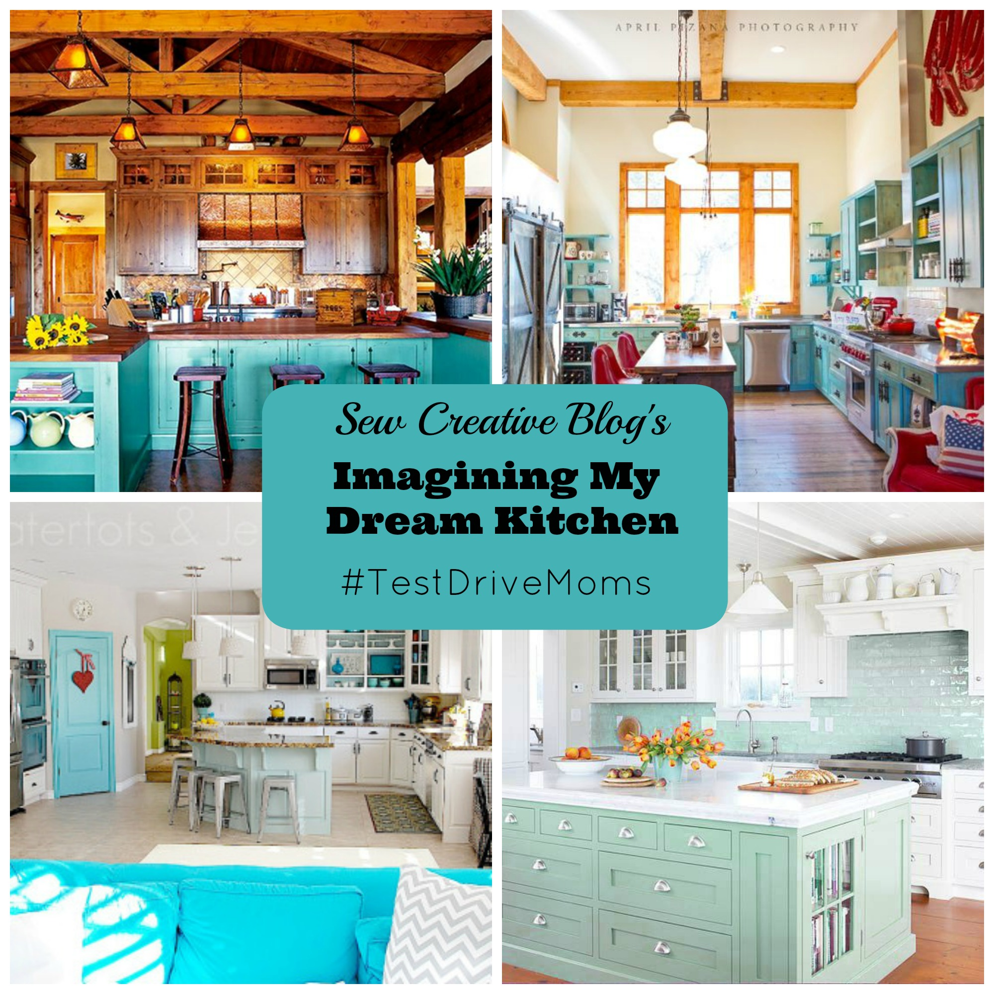 Sew Creative Blog S Imaging My Dream Kitchen Beautiful Aqua Blue Kitchens And Appliances To Fill Them