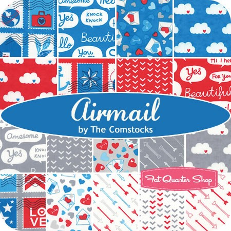 Airmail collection by Eric & Julie Comstock Fat quarter shop