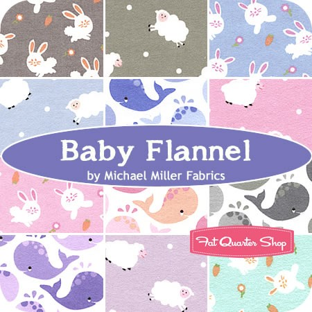 Baby Flannel Collection from Michael Miller from Fat Quarter Shop