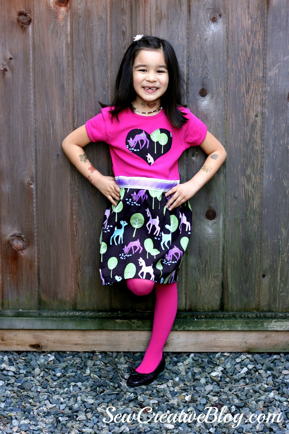 Hannah T-Shirt Dress from Sew Pretty For Little Girls Sewn by Sew Creative