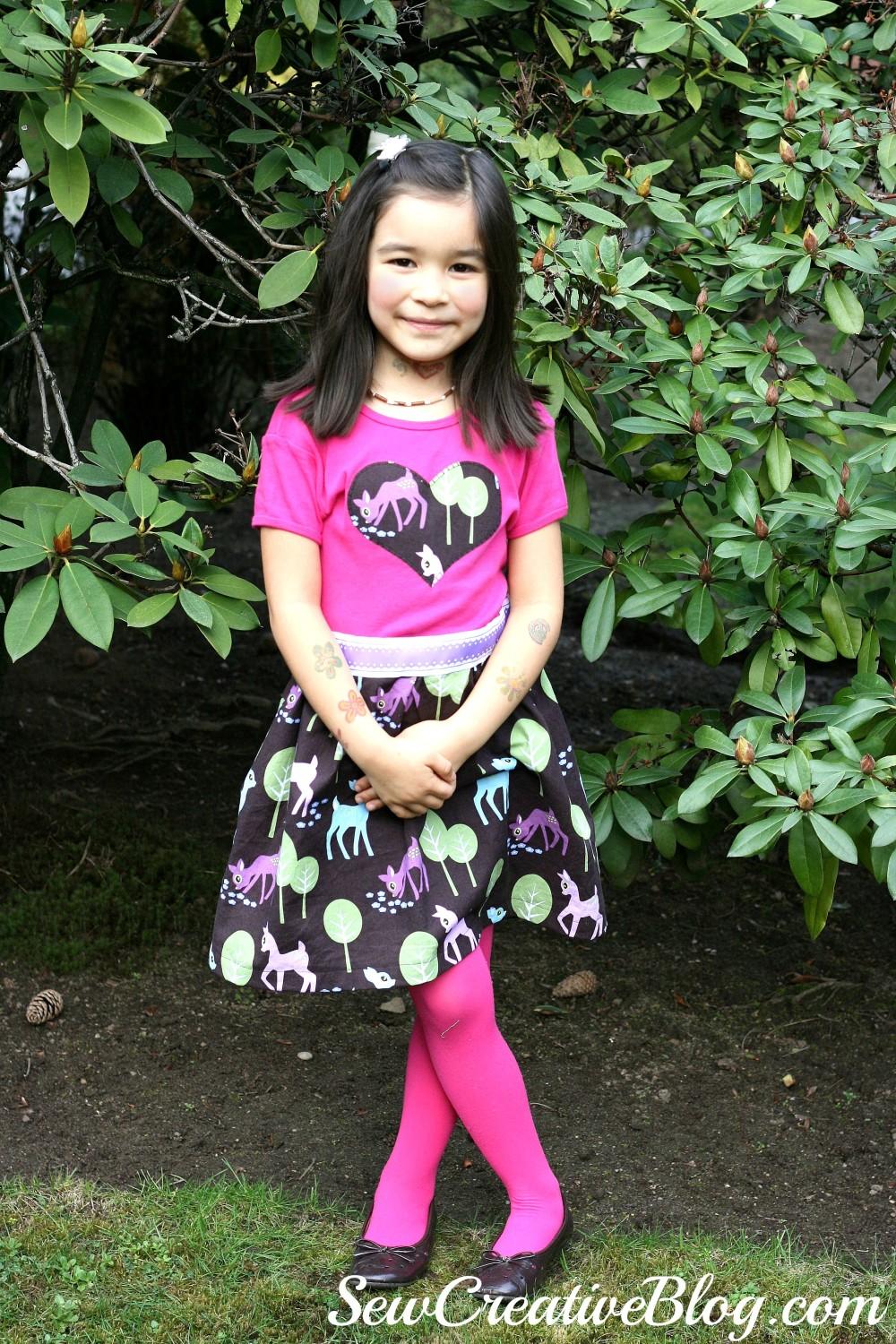 Hannah T-Shirt Dress from Sew Pretty For Little Girls by Alice Caroline sewn by Sew Creative