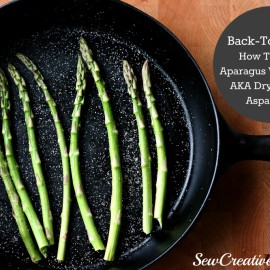 If you are watching your weight & trying to load up on veggies and cut out fat, this is the recipe for you. As part of Sew Creative's Back To Basics series she shares how to roast asparagus without oil!