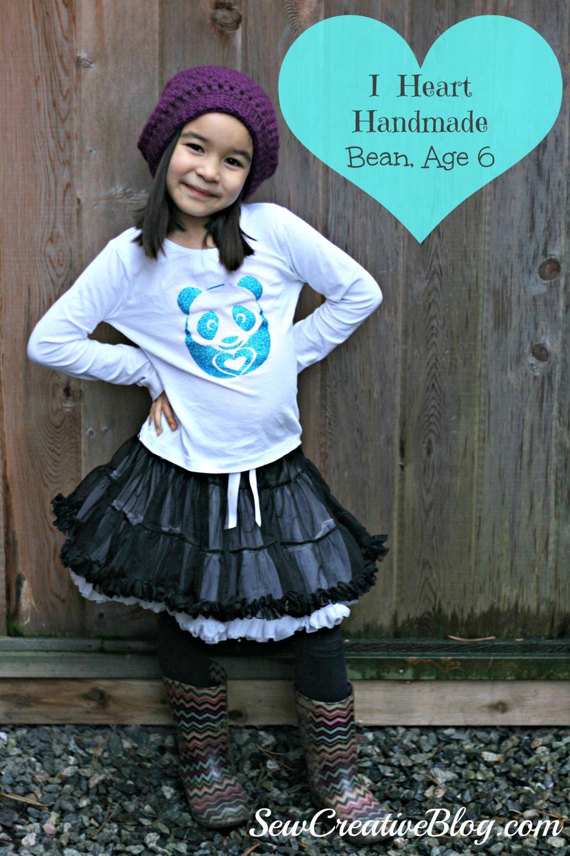 Mommy Monday, I heart handmade, Bean Age 6 Sew Creative
