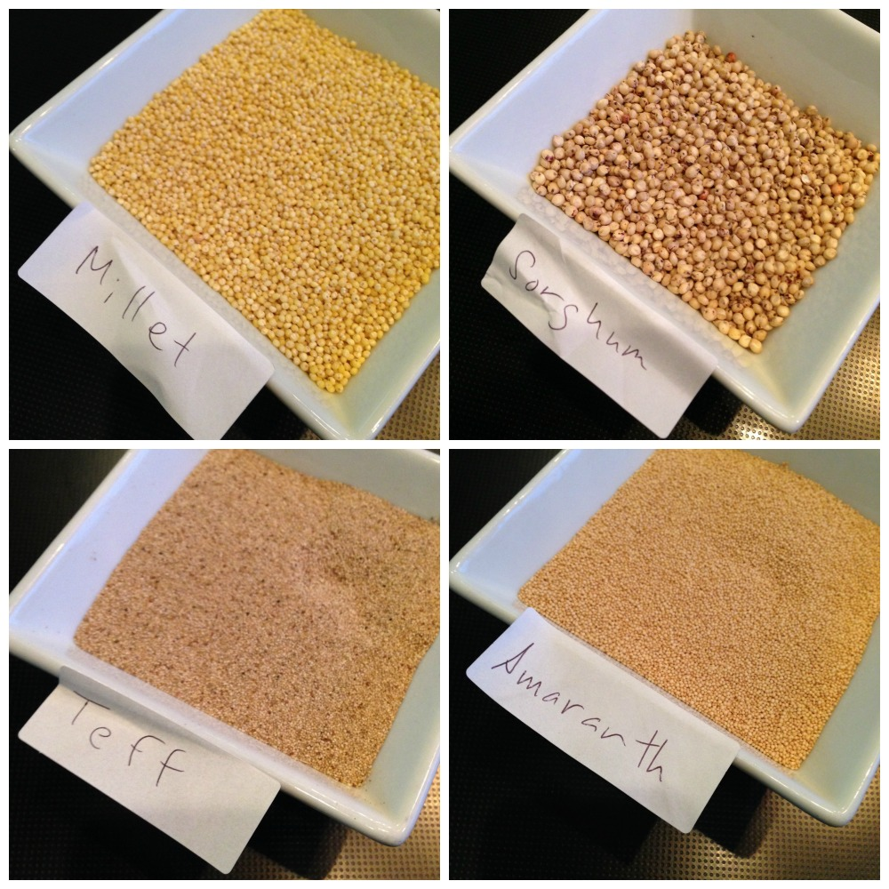 4 of the grains in the Catelli Health Harvest Ancient Grains Pasta