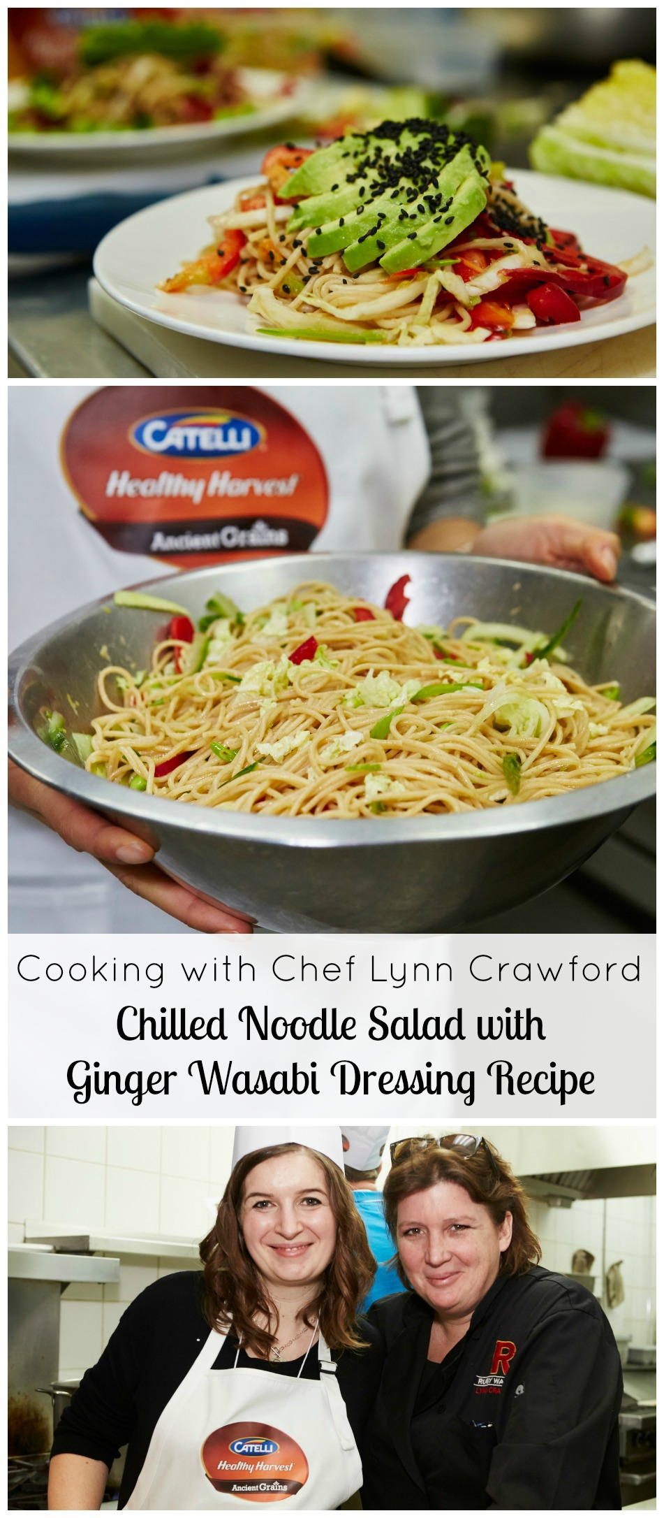 Cooking With Chef Lynn Crawford Chilled Noodle Salad With Ginger Wasabi Dressing Recipe