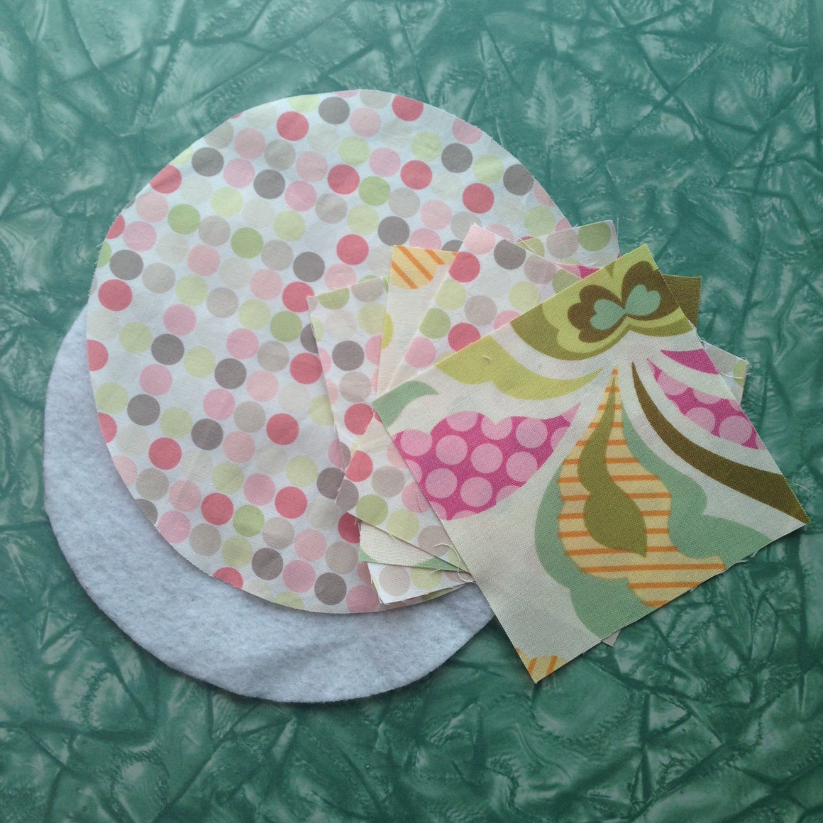 Fabric Scrap Teapot Cozy Tutorial Step 1