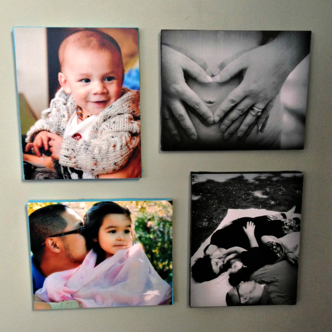 How to Mount a Photo to Canvas. A Tutorial on HelloCreativeFamily.com