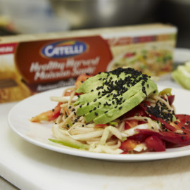 Chilled Noodle Salad with Ginger Wasabi Dressing Recipe