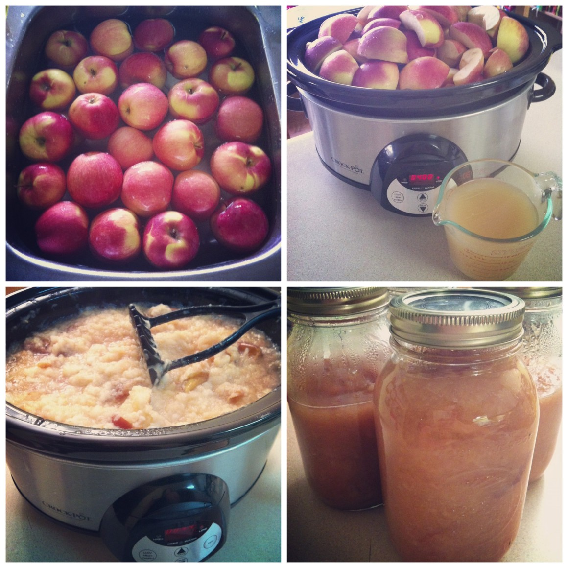 No Peeling Required Crockpot Applesauce Recipe