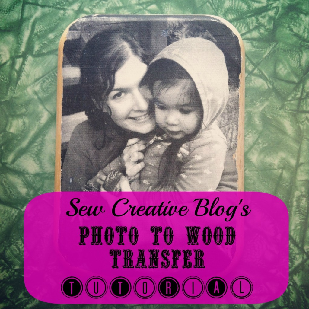 Photo to wood transfer tutorial from Sew Creative Makes a beautiful handmade gift. Featured on HelloCreativeFamily.com