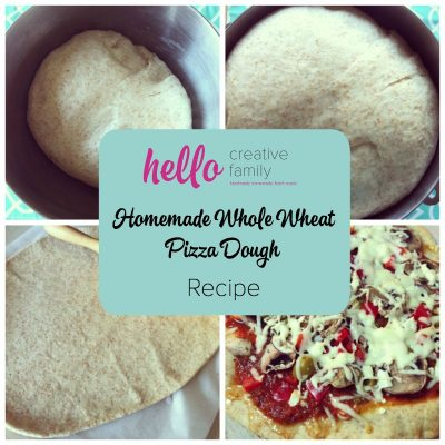 Homemade Whole Wheat Pizza Dough Recipe Menu Board Card #5