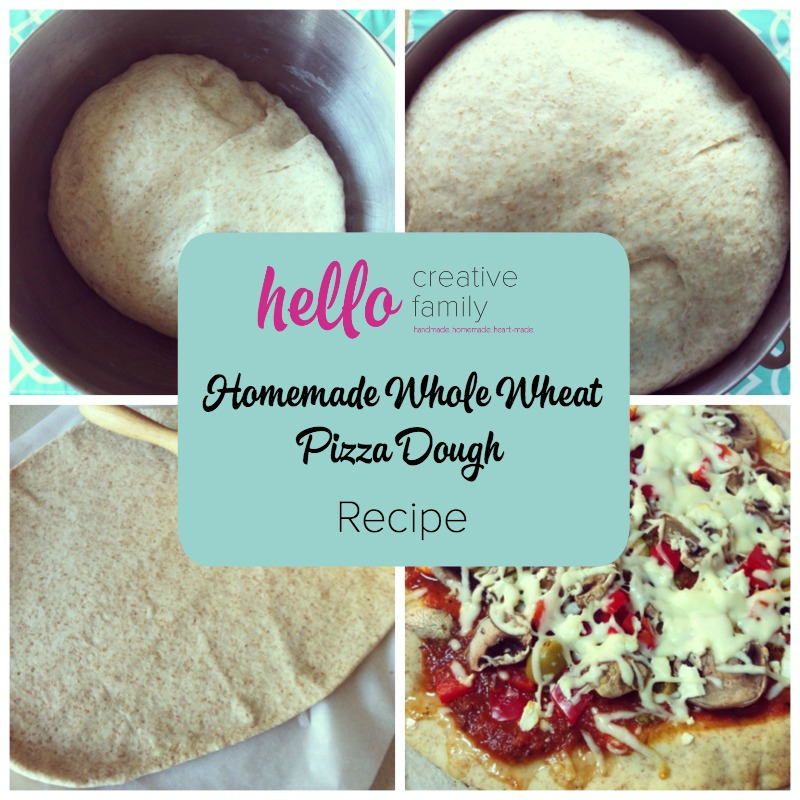 Pizza that is delicious and nutritious It's true! Check out this homemade whole wheat pizza dough recipe that lets you make fresh homemade pizza at home!
