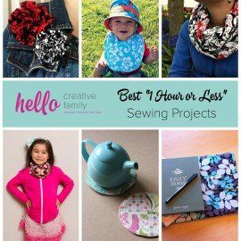 Ready to get creative and start sewing Here are 6 quick and easy sewing projects, perfect for beginners that can be made in one hour or less from Hello Creative Family