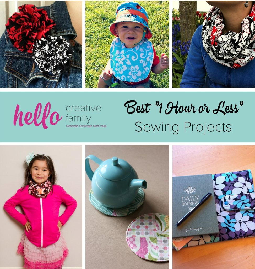 One Hour Kitchen Projects: Easy 10 Minute Sewing Project- How To Sew Reversible