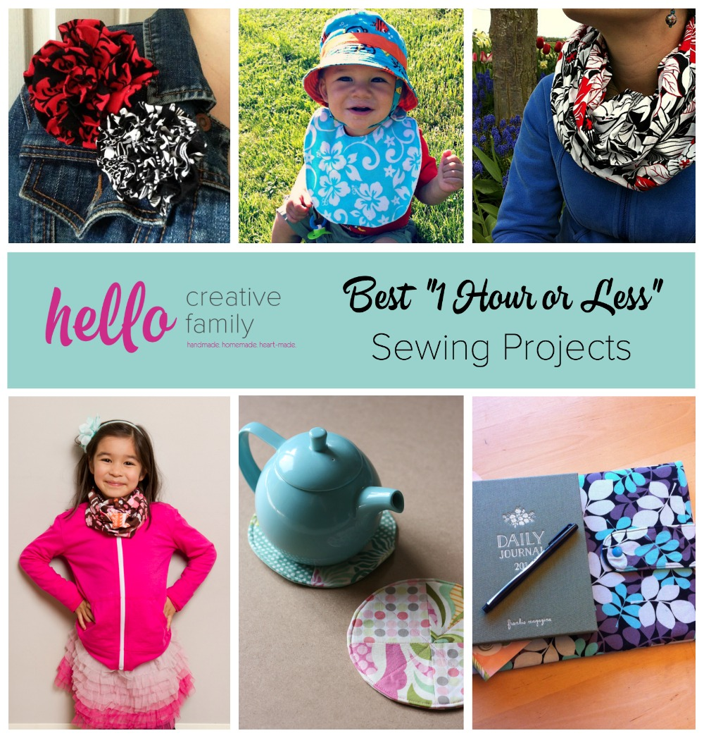 One Hour Kitchen Projects: The Best Sewing Projects For Beginners + Win $50 From Fat
