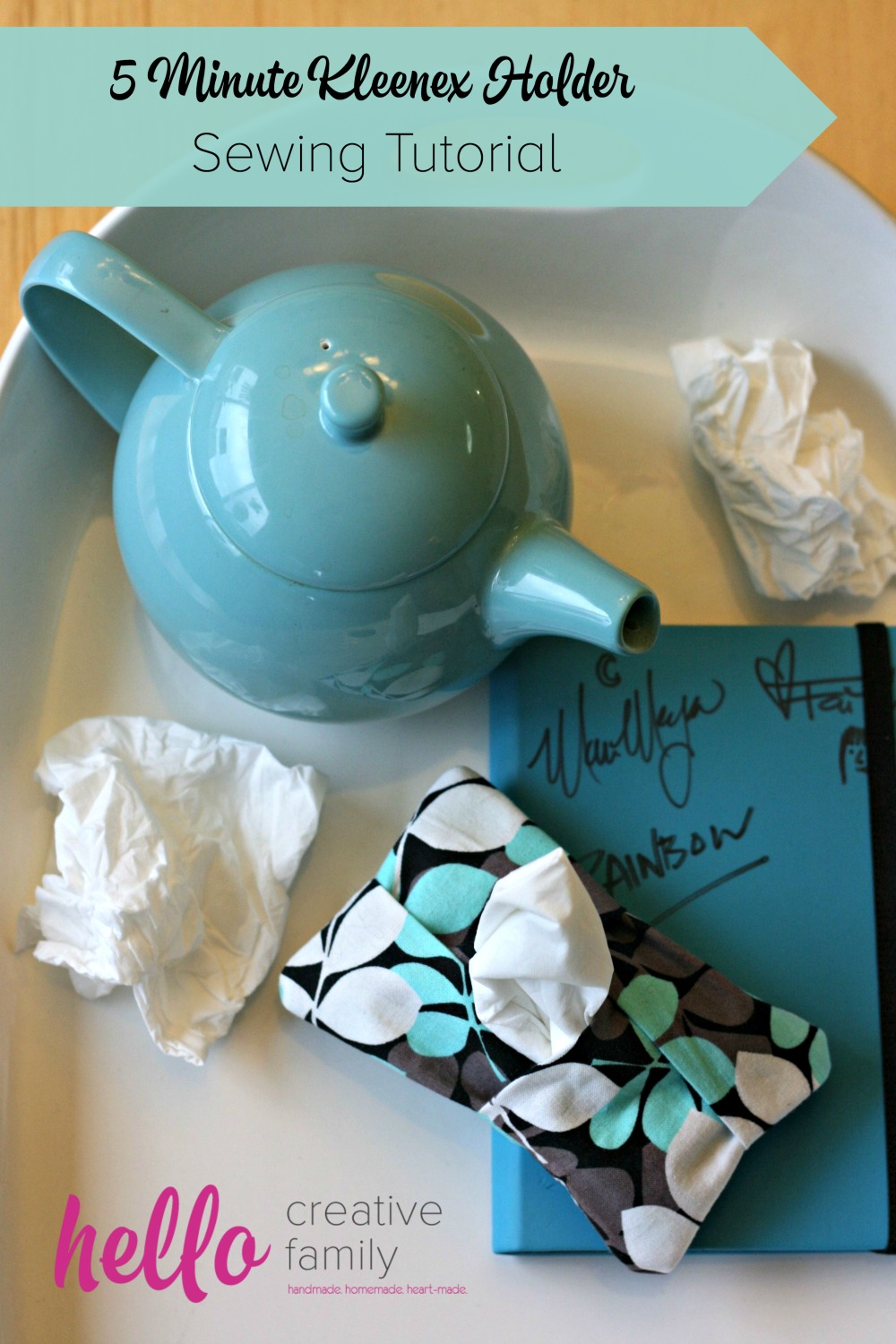 This 5 Minute Tissue:Kleenex Holder is a simple sewing projects for beginners. Whip them up for your kids, teachers and friends during cold and flu season. Perfect for stocking stuffers.