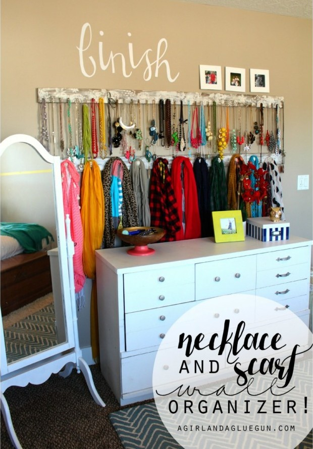 HCF Featured DIY of the Week- Jewelry and Scarf Wall ...