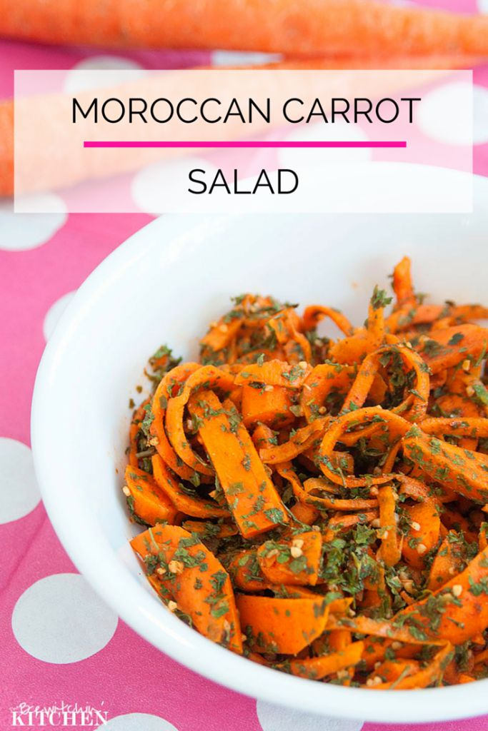 Delicious and easy Moroccan Carrot Salad from Bewitchin Kitchen